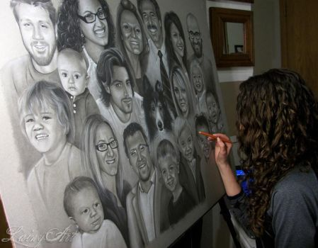 Shyla's super family Portrait - In progress by secrets-of-the-pen
