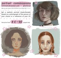 portrait commission sheet // lumiorah by lumiorah