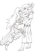 [Commission] Natsumi and Yusei by Cleopatrawolf