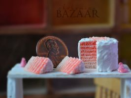 Shades of Pink Cake 1:12 Scale by TheMiniatureBazaar