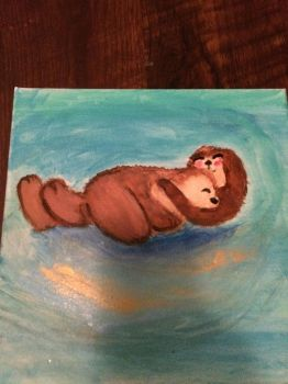 Otter painting by F00000d