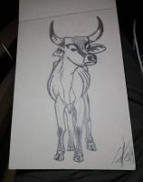 Cow sketch by zebG