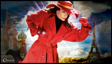 Carmen Sandiego Photo Shoot by CORSIGLIA