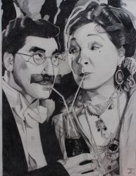Groucho Marx and  Margaret Dumont by professorwagstaff