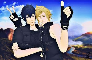 [ FF15 ] Prompto's Best Shot by tifany1988