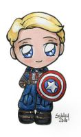 Captain America Chibi by sakkysa