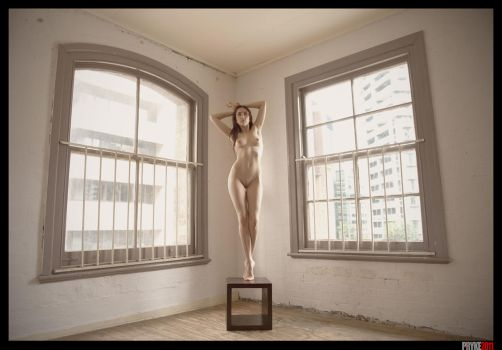 Room with a standing nude by jkdimagery