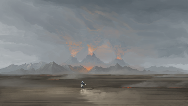 Fingolfin rides to Angband by SpartanK42