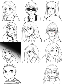 Doodling your OCs - Batch 1 by Liny-An