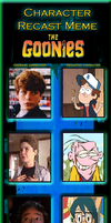 Character Recast Meme: The Goonies by PrincessGemSquirrel