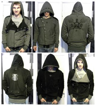 Double sided hoodie full shot by reedaoma