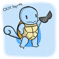007. Squirtle by Kina-Maaka