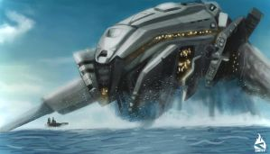 Speed Paint - Battleship by Art-by-Smitty