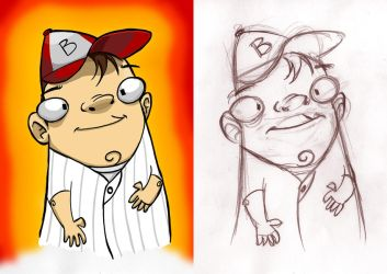 Pete Paquette charicature by tomsaville