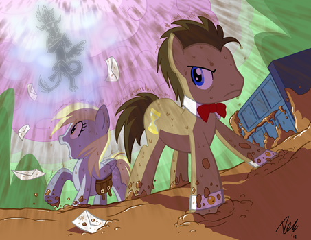 Dr.Whooves VS Discord by Tigerfog
