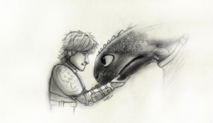 Hiccup and Toothless by Samy110