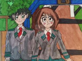 Deku x Uraraka U.A High School BNHA by KiritoDrift2025