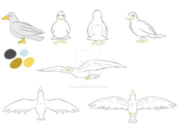 3rd year film: Seagull model by LetterBomb92