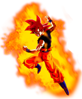 Super Saiyan God Goku Aura by BrusselTheSaiyan