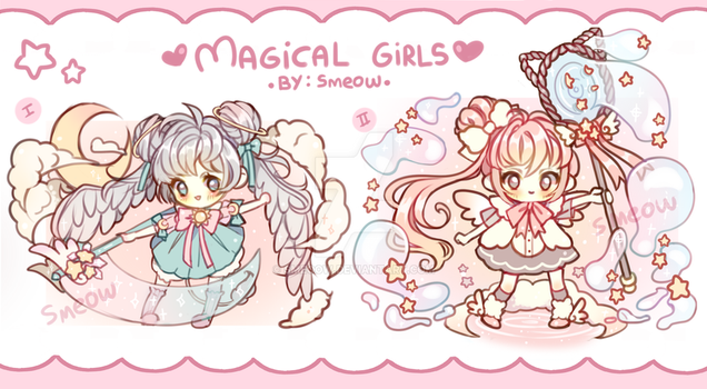 ADOPTABLES (CLOSED) Magical girls by Smeoow