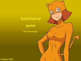 My OC - Gold-haired Puma in Soul Eater style by Csodaaut