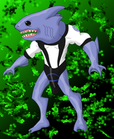 SharkBite Ben10 Alien by BLUE-F0X