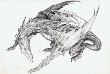 Dragon Concept Art by yaokhuan