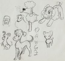 Random cartoon dogs by Angi-Shy