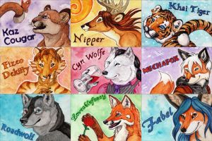 'MiDFur 2011' Traditional Badges by Ashalind