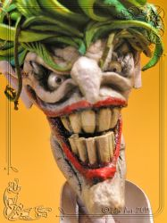 The Joker Leather Sculpture  (Face) by MedusaWood