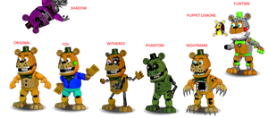 All versions from Circusfredbear2003 by Diegopegaso87