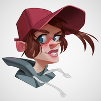 Girl with cap by Henkkab