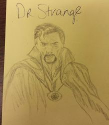 Doctor Strange - quick sketch by rawrdoodles