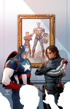 Captain America #1 cover by PaulRenaud