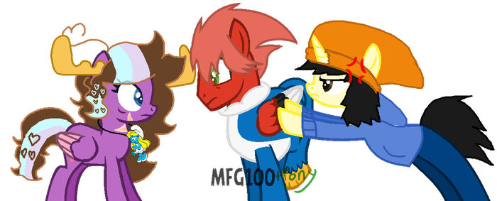Parappa, leave her alone (BASE EDIT/COLLAB) by TheInanimatePony