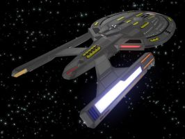 USS Titan AftView by thequestionmark