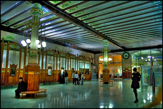 Old style railway station HDR by xaferna