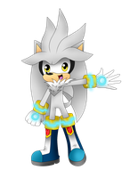 Silver The Hedgehog by YannerysMariaPink