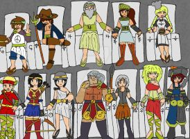 The Twelve Olympians by Selecthumor