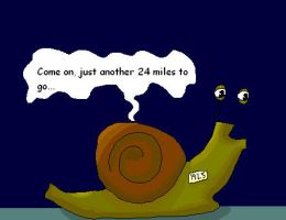 At a snails pace by Holsmetree