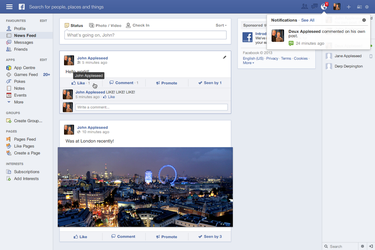 [Update 2.1] Redesigning Facebook: News Feed by theIntensePlayer