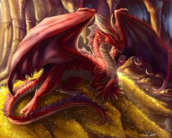 Red dragon by YamiGriffin
