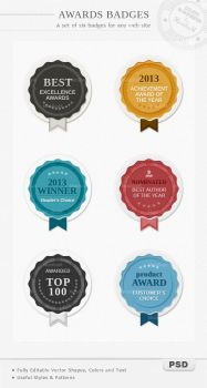 Awards Badges by PixFairy