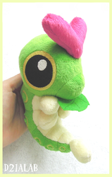 Caterpie Plush by d215lab
