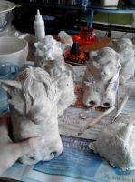 Paper mache Halloween projects 6 by Shinjuchan