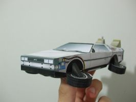DeLorean - Back to the Future II - Papercraft by Gust-TRON