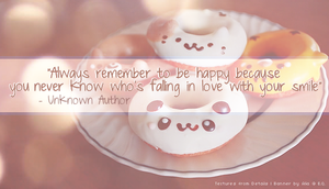 Everyday Quote #9: Sweet Smiles by sugarnote