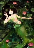 Swamp Mermaid by Fiorina-Artworks