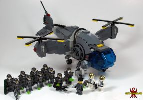 LEGO Fallout: Vertibird and Enclave Soldiers by Saber-Scorpion