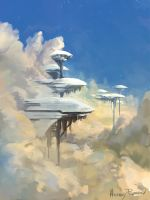 Environment Sketch 008 by AnthonyPismarov